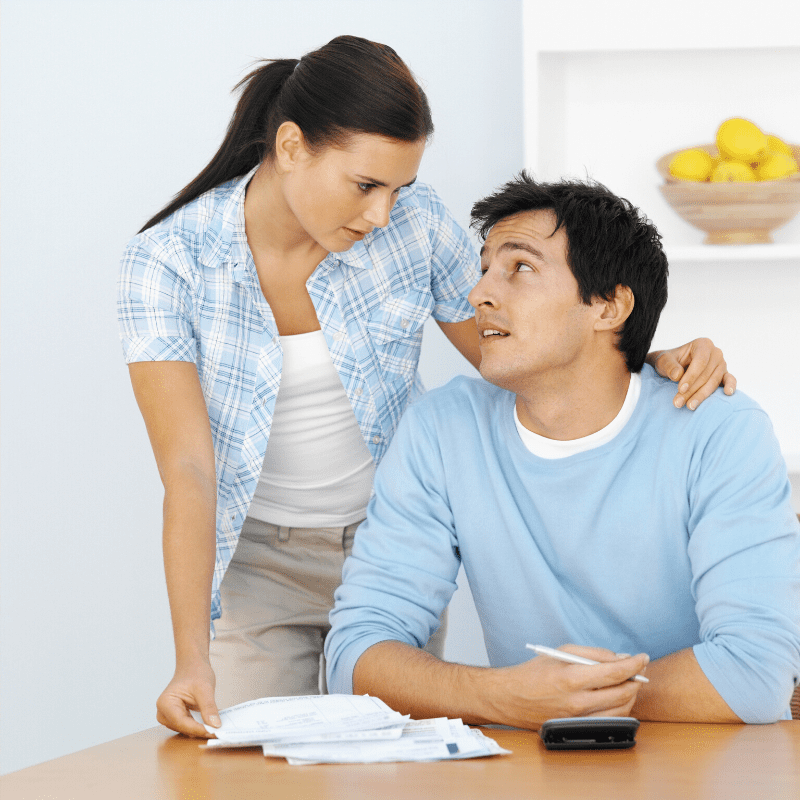 Spouse discussing personal bankruptcy chapter 13